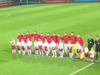Hymn przed meczem młodzieżówek Polska - Dania w Gdyni