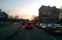 Korek na trakcie w kierunku  Pruszcza