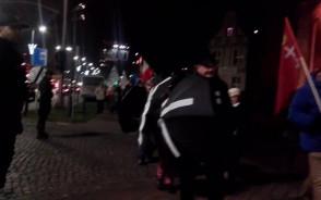 Manifestacja w centrum Gdańska