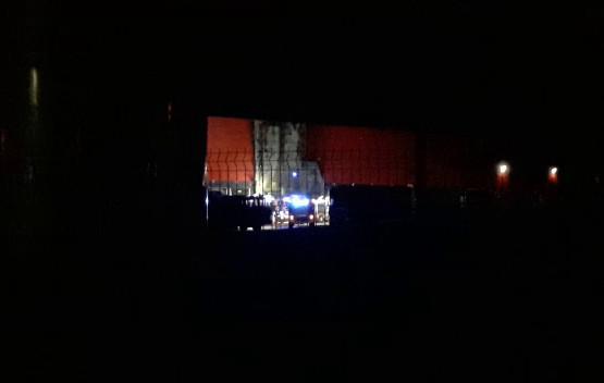 Pożar hali w Kowalach