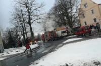 Pożar Warzywniak przy rondzie na Chełmie