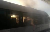 Dym w kolejce PKM w Kiełpinku