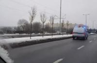 Wypadek przy wiadukcie na Jana Pawła II
