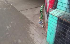 Butelki po alkoholu w tunelu pod Błędnikiem