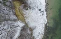 Osunięty klif w Orłowie z lotu ptaka
