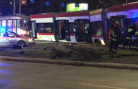Akcja wstawianie tramwaju na tory