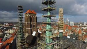 Remont dachu bazyliki Mariackiej