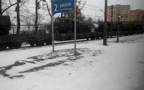 Transport sprzętu wojskowego koleją