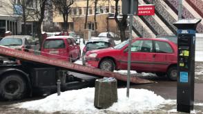 Wciąganie samochodu w centrum Gdyni