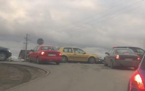 Potężny korek na Starogradzkiej w kierunku straszyna
