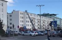 Ewakuacja z dachu przy Piłsudskiego w Gdyni