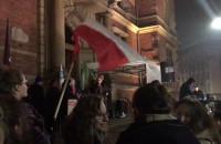 Przemówienia podczas Czarnego protestu w Gdańsku