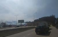 Pożar w okolicach ul. Słowackiego