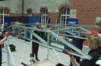 Studenci PG budowali konstrukcje zadaszenia