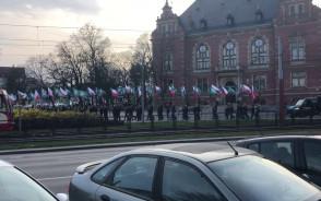 Manifestacja narodowców w centrum Gdańska