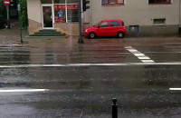 Pełno wody na drogach w Sopocie