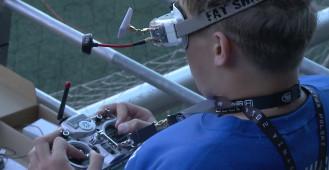 Wyścigi dronów w ramach Drone Festiwalu