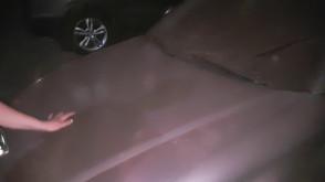 Pył ze stoczni na samochodach