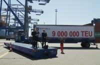 Przeładunek 9 milionowego kontenera w DCT Gdańsk