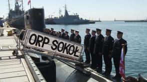 """Ostatnie opuszczenie bandery na ORP """"Sokół"""""""