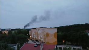 Pożar przy ul. Wielkokackiej