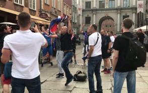 Chorwaci świętują na ul. Długiej w Gdańsku