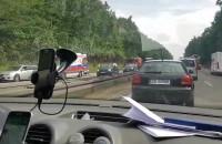 Wypadek motocyklisty za Osową