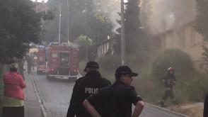 Pożar pustostanu na Siedlcach