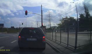 Wyprzedzanie na torach tramwajowych