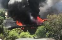 Pożar przy Budowlanych Gdańsk
