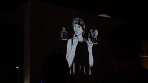 Video Mapping na ścianie Teatru Muzycznego