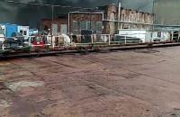 Śrutownia w stoczni Nauta się pali