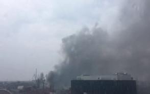 Pożar w stoczni w Gdańsku