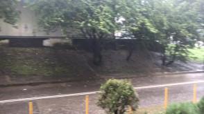 Potężna burza idzie przez Witomino