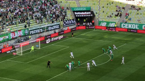 Gol Flavio Paixao w meczu Lechia - Śląsk