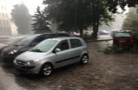 Gradobicie nagrane przy ul. Wałowej