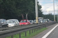 Mega korek na obwodnicy między Karwinami a Osową