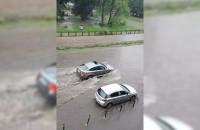 Ulica Kartuska w Gdańsku zalana