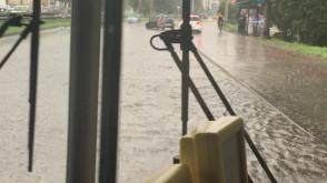 Gdynia - Rondo Żołnierzy Wyklętych - deszcz