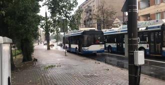 Awaria trolejbusu na Świętojańskiej