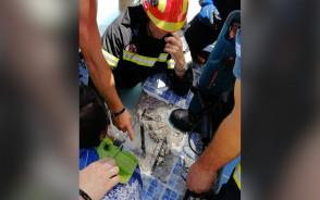Ręka dziecka utknęła w odpływie basenowym