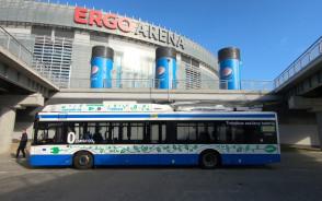 Trolejbus jeździ do Ergo Areny