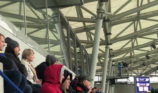 Trenerzy Lechii Gdańsk na meczu Arki Gdynia