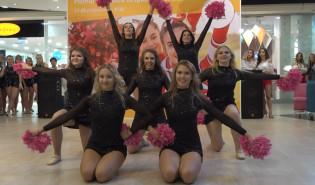 Trójmiejskie cheerleaderki zaprezentowały swoje umiejętności