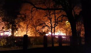 Pożar warsztatów na ul. Wyspiańskiego