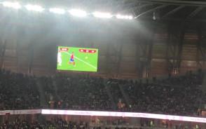 Po golu Czechów na stadionie