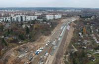 Budowa Nowej Bulońskiej z lotu ptaka - listopad 2018