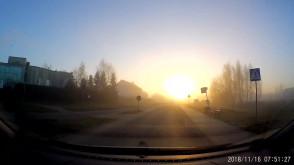 Wschód słońca w drodze do pracy