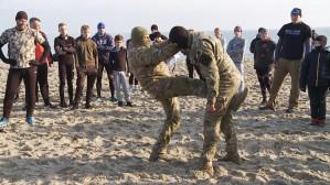 Trenowali z komandosami na plaży w Babich Dołach