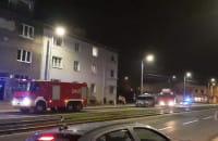 Pożar w kamienicy na Marynarki Polskiej 12